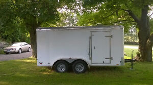 CARGO MATE 14FT X 7FT. DUAL AXLE ENCLOSED DELUXE CARGO TRAILER