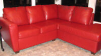 Sofa sectionnel rouge