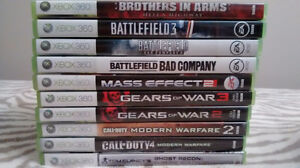 Xbox 360 games - shooter, sports, etc. Used/like new - $5.00