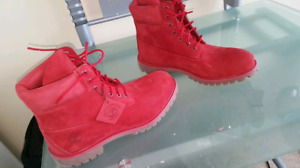 Red Timberland Mens