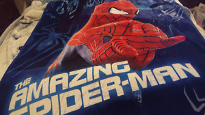 Spiderman Fleece throw and Tote