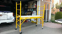 assembled but never used 6' 1000lb wheeled baker style scaffold