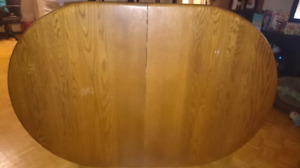 Large Oak Dining Room Table