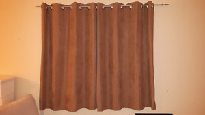 Curtains x2 sets and rods