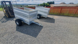New quad atv 5x3 livestock trailer farm tractor