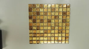 Gold Leaf Glass Mosaic Clearance!!!-$8.99/sqft
