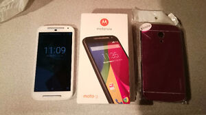 Unlocked Moto G2 Android Phone with Case