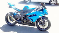Like new, Kawasaki Ninja ZX-6R 2009 candy surf blue