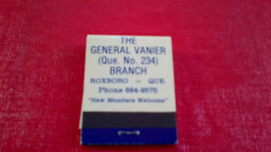 Matchbook Cover-The Royal Canadian Legion Kitchener / Waterloo Kitchener Area image 2