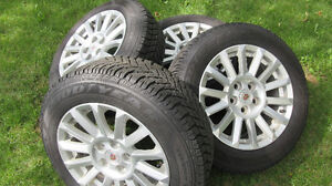 4 - GOODYEAR WINTER ULTRA GRIPS & 2008-2013 CADILLAC CTS 5X120