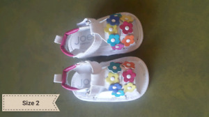 Baby shoes/sandals size 3 months to 12 months(size 3 and 4.