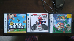 Nintendo ds lite and 3 games