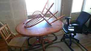 Dining room table and 2 matching chairs