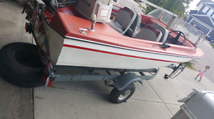 1969 evin rude outboard 55hp speed boat