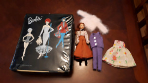 Vintage 1962 Barbie Doll Carrying Case with 1975 Jody Doll