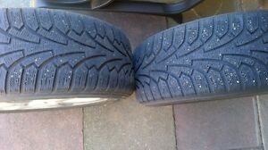 Two Infinity 5 bolt rim and winter tires Kitchener / Waterloo Kitchener Area image 2
