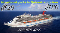 $120 Houston to Galveston private shuttle  transportation ​$120