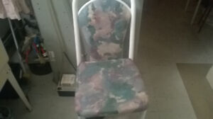 chairs and a child car seat