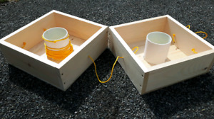 Washer toss games with 8 washers
