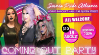The Sarnia Pride Alliances Official Coming Out Party August 18