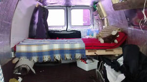 Ford E350 Cargo Van convert into Camper Van