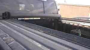 Tanneau cover, roll up with rails