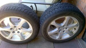 Two Infinity 5 bolt rim and winter tires Kitchener / Waterloo Kitchener Area image 3