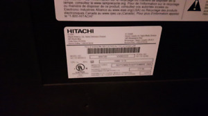 "50""  lcd projection tv. Hitachi. Hdmi."