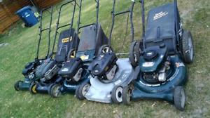Well Serviced Used Gas Lawnmowers for Sale or Trade