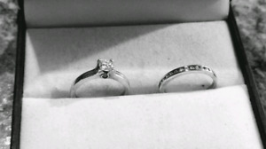 Solitaire Ring and wedding band