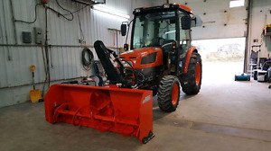2012 Kioti Dk45 with loader and new 2016 front blower
