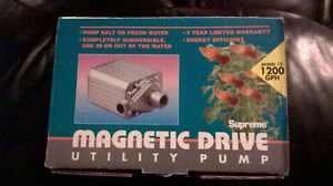 New - Supreme Mag Drive 12 - for 1200 GPH - Saltwater fish tank