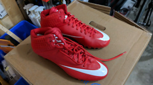 Nike Football Cleats Vapor Size 11.5 and 12 Red and Blue
