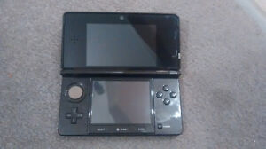 Black Nintendo 3DS with all cords and Monster Hunter 3 Ultimate