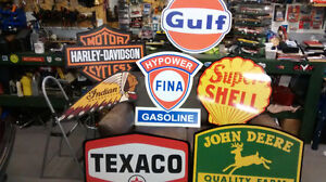 RETRO GAS AND OIL SIGNS