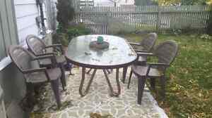 Glass Outdoor Patio Table for sale