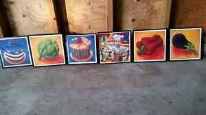 Framed pictures 10.00.each or all 6 for 50.00