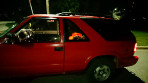2005 blazer 2 door 4*4. Victory red cold air I take...