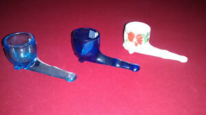 Antique Pipe Matchstick/Toothpick Holders (3)