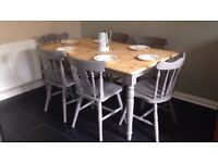 Farmhouse pine Dining Table & Chairs