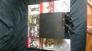 PS3 With 8 games and all hook ups
