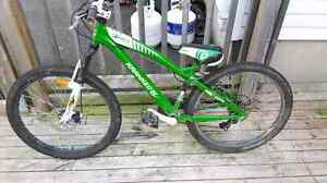 "Kranked 24"" mountain bike"