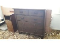 Wardrobe, dressing table, chest of drawers, mirror, vintage, solid wood