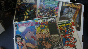 Box of about 100 comics mostly 1990s 250$ OBO