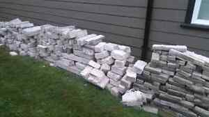 Old concrete bricks, clean or in fill,free