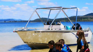 5m Solid Plate Centre Console Fishing/Wakeboard Boat