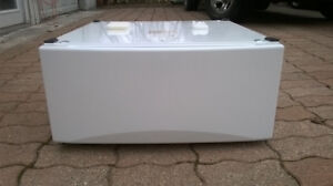 2- WHITE Front Load Washer Dryer Pedestals Drawers
