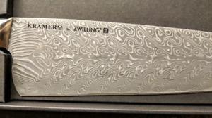 "FS: Kramer by Zwilling Euroline nickel Damascus 10"" chef knife"