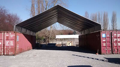 20 X 40 Cargo Shipping Container Cover - Safe Dry Storage Or Covered Work Area