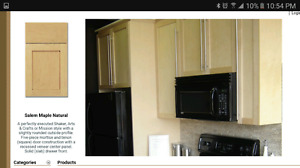 Maple Kitchen Cabinets (new in boxes) picture is from online